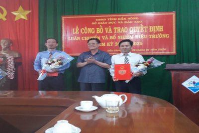 Lễ công bố các Quyết định luân chuyển và bổ nhiệm Hiệu trưởng có thời hạn các trường THPT Đăk Glong, trường PTDTNT THCS và THPT huyện Đăk Glong.