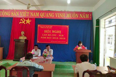 HỘI NGHỊ CBCC, VC NĂM HỌC 2018-2019