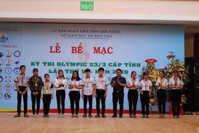 TRƯỜNG THPT ĐĂK GLONG THAM GIA KỲ THI OLYMPIC LẦN THỨ VI NĂM 2019
