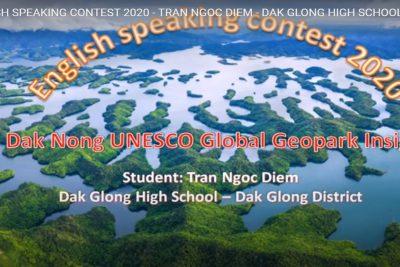 ENGLISH SPEAKING CONTEST 2020 – TRAN NGOC DIEM – DAK GLONG HIGH SCHOOL