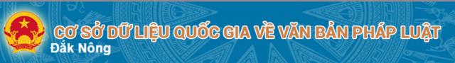 Văn bản pháp lý tỉnh Đăk Nông