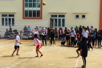 Chung kết giải bóng chuyền học sinh nam- nữ chào mừng 38 năm ngày nhà giáo Việt Nam 20/11
